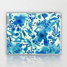 blue pretty flowers  https://society6.com/clemm?promo=X9B3VVZDM7J6 Laptop & iPad Skin