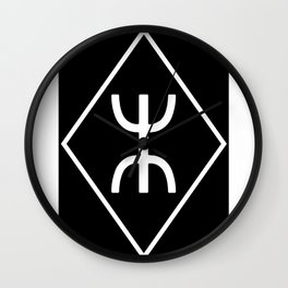 Rune 18 shield Wall Clock