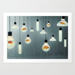 Ideas and Goldfish 04 Art Print