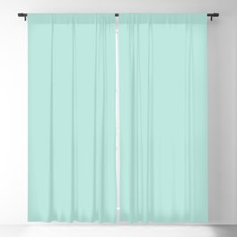 Light Pastel Aqua Green Blue Solid Color Pairs to Sherwin Williams Aquatint SW6936 Blackout Curtain