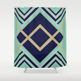 Art Deco Faster Shower Curtain