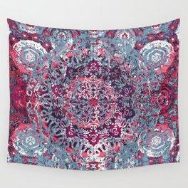 Vintage Boho Burgundy Mandala Wall Tapestry