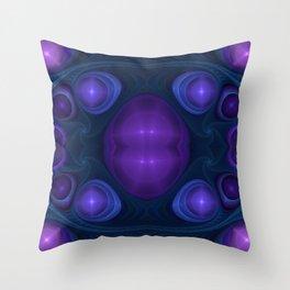 """Peacock Space"" Fractal Flame Art Throw Pillow"