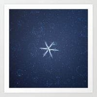 snowflake Art Prints featuring Snowflake by LainPhotography