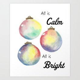 Festive Ornaments Art Print
