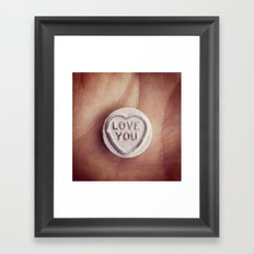 Love Heart Framed Art Print