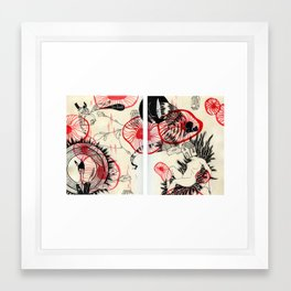 All Stuck in This Red Space Framed Art Print