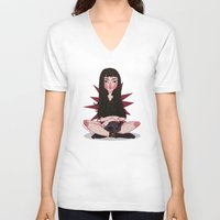 witchcraft V-neck T-shirts featuring ☽ Witchcraft ☾ by ♡ SUSHICORE ♡