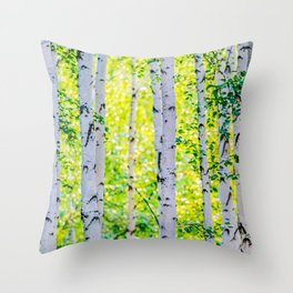 Birch Grove Throw Pillow