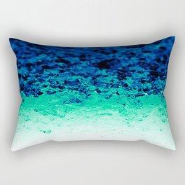 Midnight Teal Ombre Crystals Rectangular Pillow