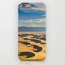 The Goby Desert Bivalent Shades Windy Decomposed Dunes iPhone Case