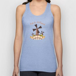 Dutch windmill with canal foot bridge Unisex Tank Top