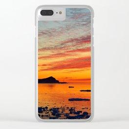 Coastal Delight Clear iPhone Case