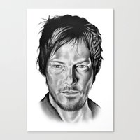 daryl dixon Canvas Prints featuring Daryl Dixon by 13 Styx