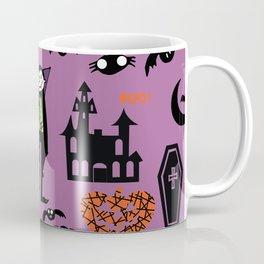 Cute Dracula and friends purple #halloween Coffee Mug
