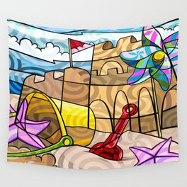 Sand Castles Wall Tapestry