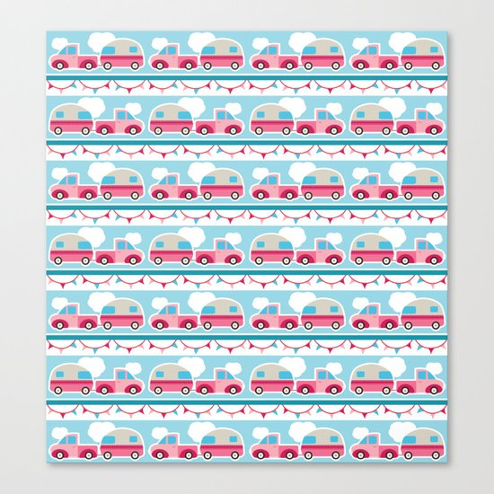 Glamping stripes Canvas Print