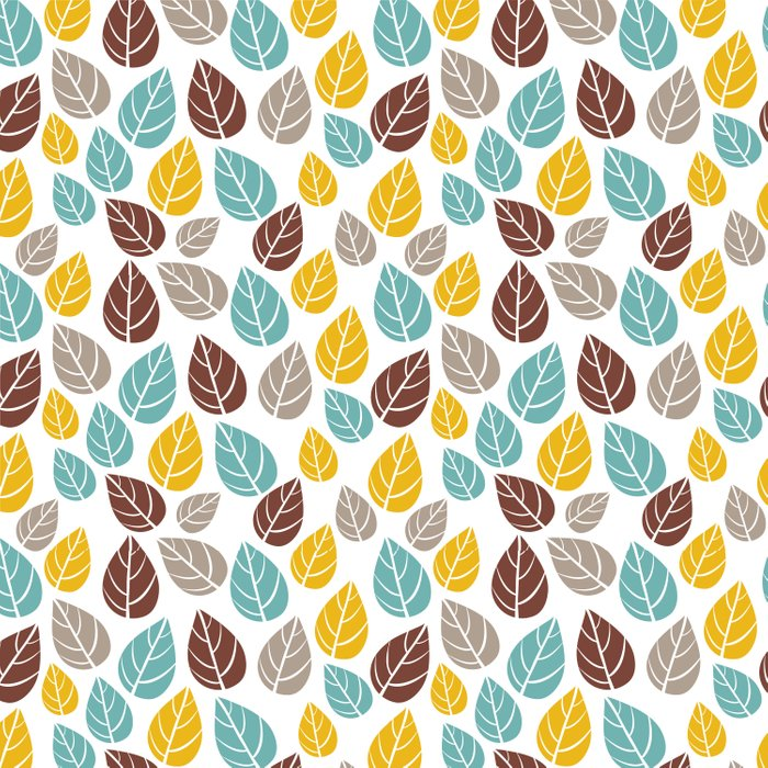 Seamless Autumn Leaves Pattern Duvet Cover