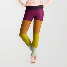 Classic 70s Retro Stripes Leggings