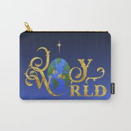 Joy to the World Golden Carry-All Pouch