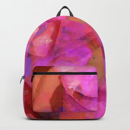 Pink Wow - Rose Art By Sharon Cummings Backpack