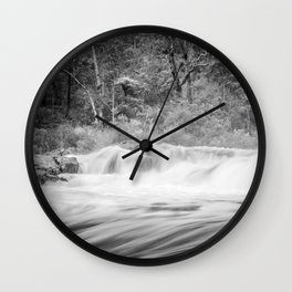 Black and White River Wall Clock
