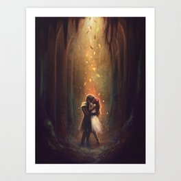 Reunion - Hades and Persephone Art Print
