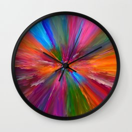 """Abstract Blooming Spring Colors"" Wall Clock"