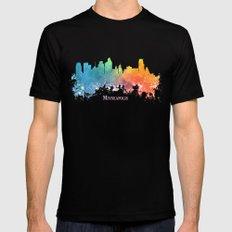 Skyline Minneapolis colored Mens Fitted Tee Black MEDIUM