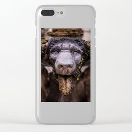 Stone Lion Head Clear iPhone Case