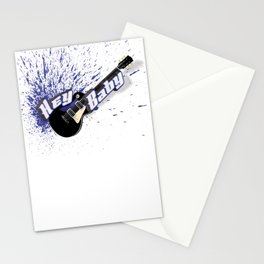 Hey Baby Guitar Stationery Cards