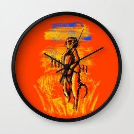 Get on alert Meerkat Wall Clock