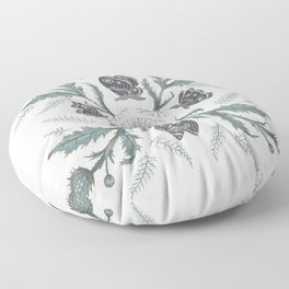 Thistle Moth Floor Pillow