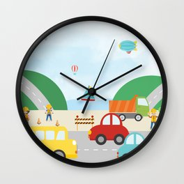 Transportation Zone Wall Clock