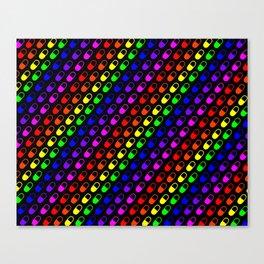 Rainbow Pills Canvas Print