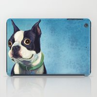 boston terrier iPad Cases featuring Boston Terrier by Jackie Sullivan