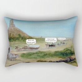 Travels with Kids Oregon Trail Theme Rectangular Pillow