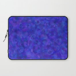 Royal Blue Floral Abstract Laptop Sleeve