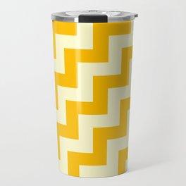 Cream Yellow and Amber Orange Steps RTL Travel Mug