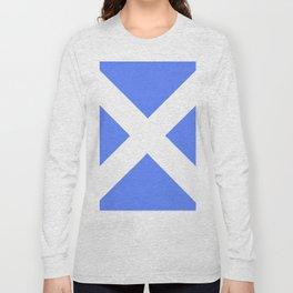 flag of scotland 4– scotland,scot,scottish,Glasgow,Edinburgh,Aberdeen,dundee,uk,cletic,celts,Gaelic Long Sleeve T-shirt