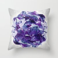 mineral Throw Pillows featuring Mineral by Lindella