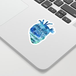 Oceanic Heart Sticker