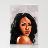 aaliyah Stationery Cards featuring At Your Best by Tetevi Teteh