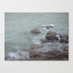 The ocean in French Canvas Print