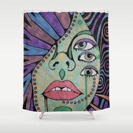 Three-eyed Gypsy Shower Curtain