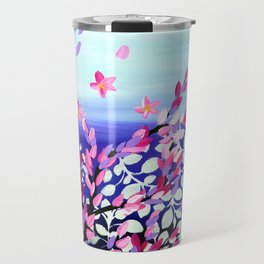 Cherry Blossoms Petals in the Wind Travel Mug