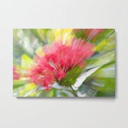 Flower Burst - Electric Magenta Metal Print