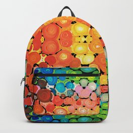 Healing Colors - Colorful Abstract Art By Sharon Cummings Backpack