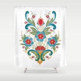 Nordic Rosemaling Shower Curtain
