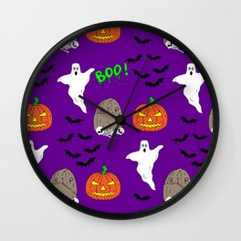 Spooky halloween print Wall Clock